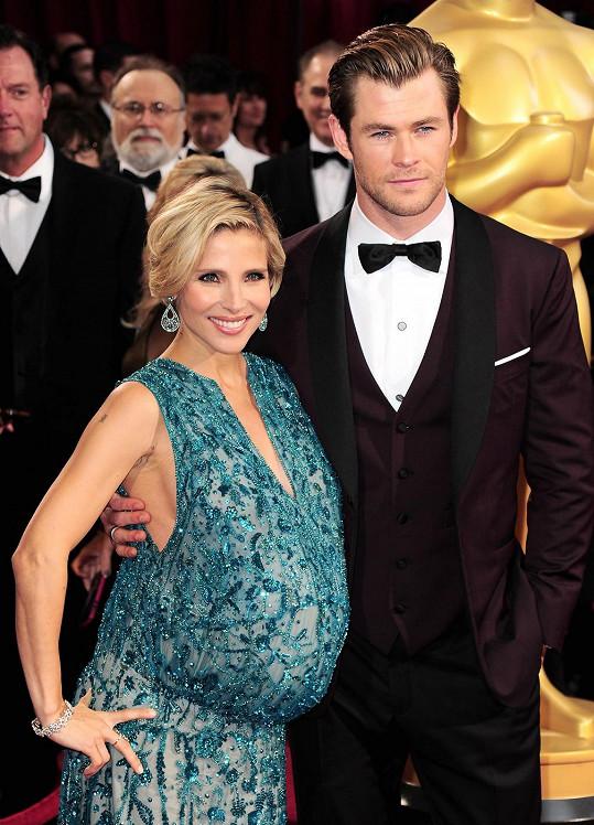 Hemsworth s manželkou Elsou Pataky