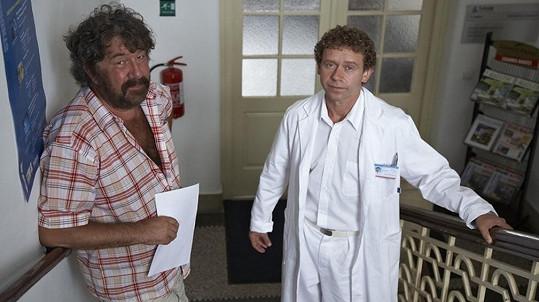 Zdeněk Troška a Jaroslav Šmíd při natáčení Doktora od jezera hrochů (2010)