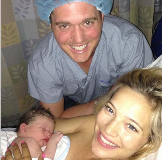 Šťastné chvíle, když se Noah narodil.