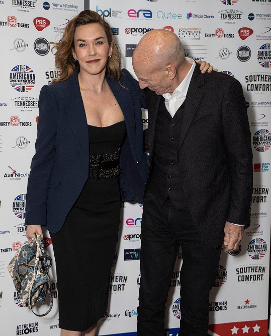 Patrick Stewart a Sunny Ozell na UK Americana Awards