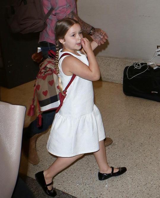 Pětiletá Harper Beckham chce být baletkou.