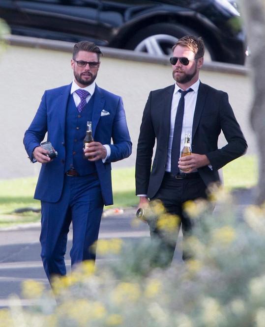 Keith Duff a Brian McFadden na svatbě Ronana Keatinga
