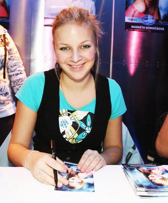 Konvičková v roce 2009, když soutěžila v SuperStar.