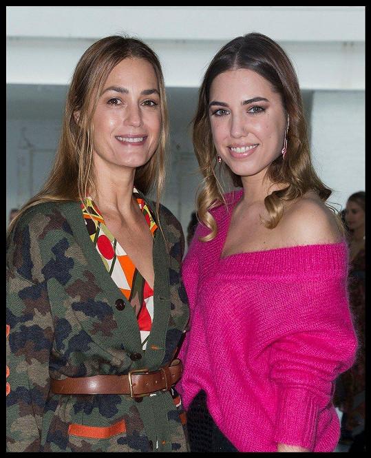 Yasmin Le Bon s dcerou Amber (vpravo), která ji do společnosti často doprovází.