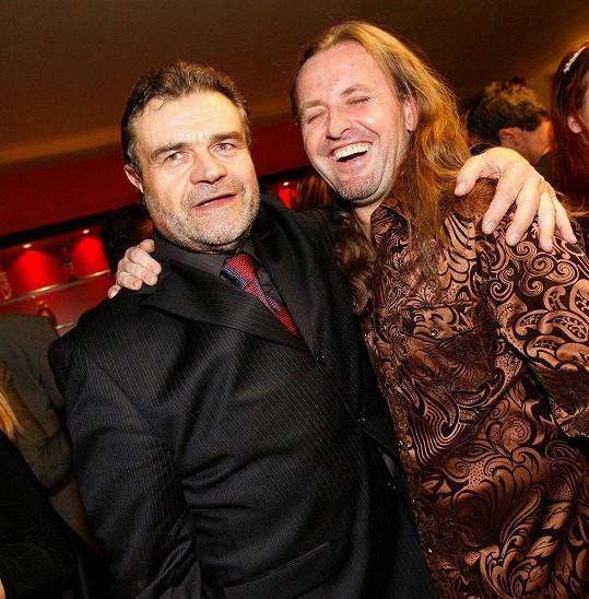 Vojtek se skladatelem Karlem Svobodou na premiéře Golema v listopadu 2006