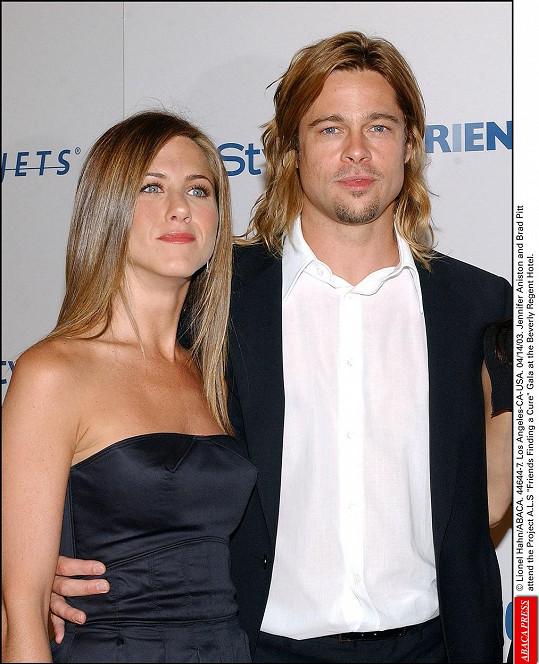 Jennifer Aniston a Brad Pitt byli manželi v letech 2000-2005.
