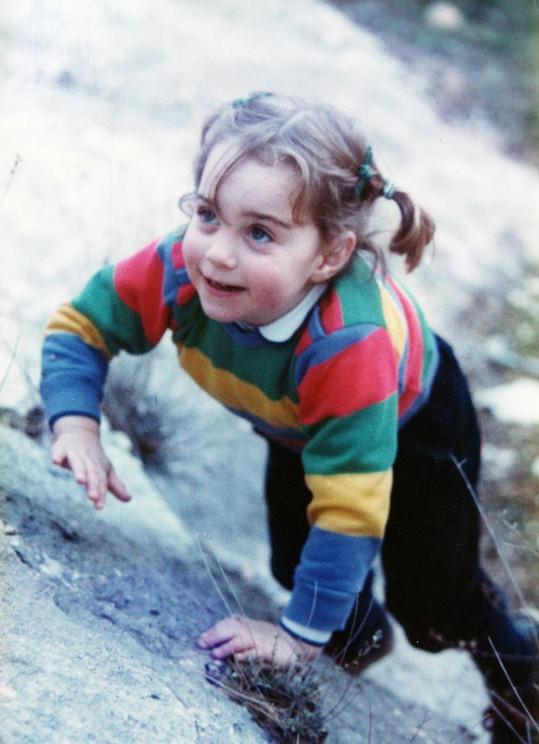 Jako holčička byla Kate pěkná neposeda...