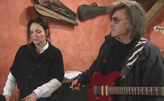 Blanka Šrůmová se svým současným partnerem Janem Saharou Hedlem.