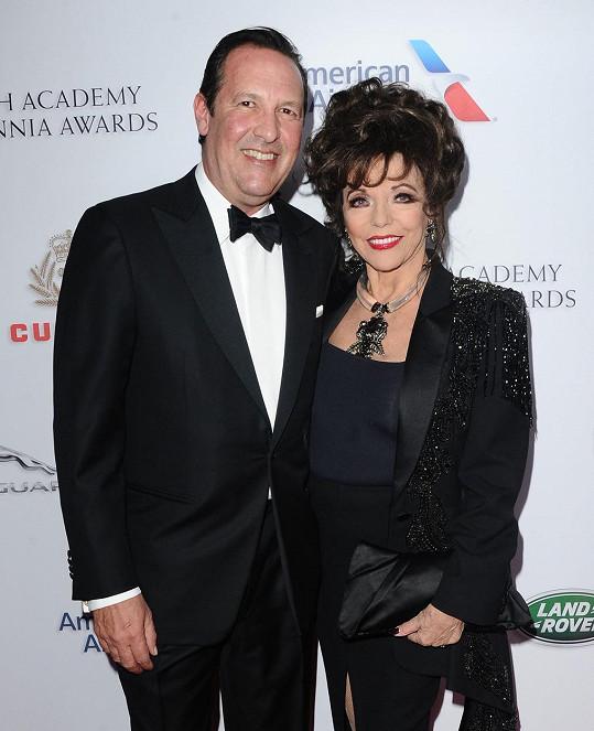 Joan Collins s manželem Percym Gibsonem