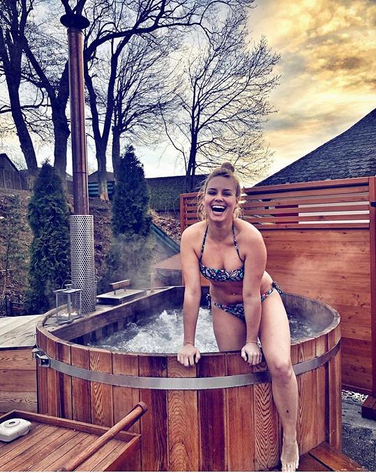 Před pár dny si Patricie užívala zimní wellness.