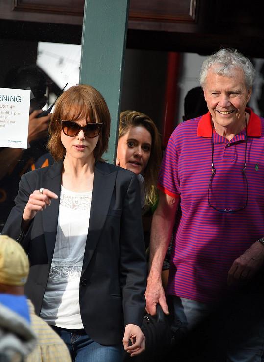 Antony Kidman navštívil nedávno svou dceru na natáčení.