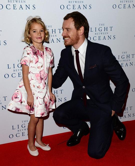 Fassbender se svou filmovou dcerou