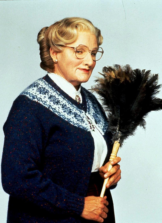 Robin Williams ve filmu Mrs. Doubtfire - Táta v sukni (1993)