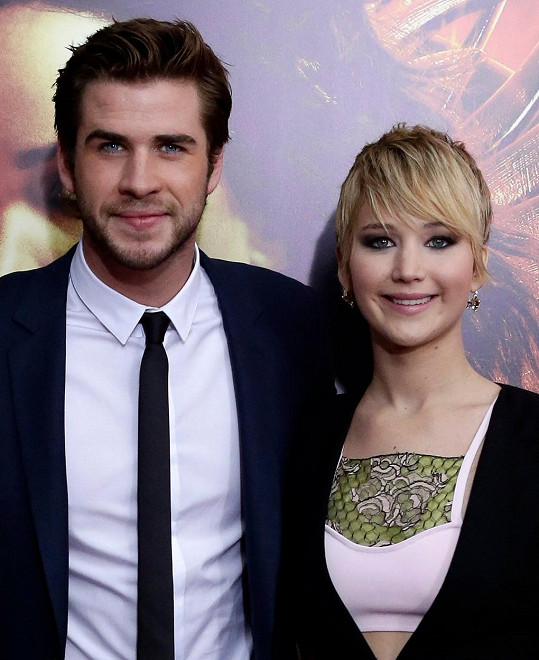 Liam Hemsworth si v Hunger Games zahrál s Jennifer Lawrence.