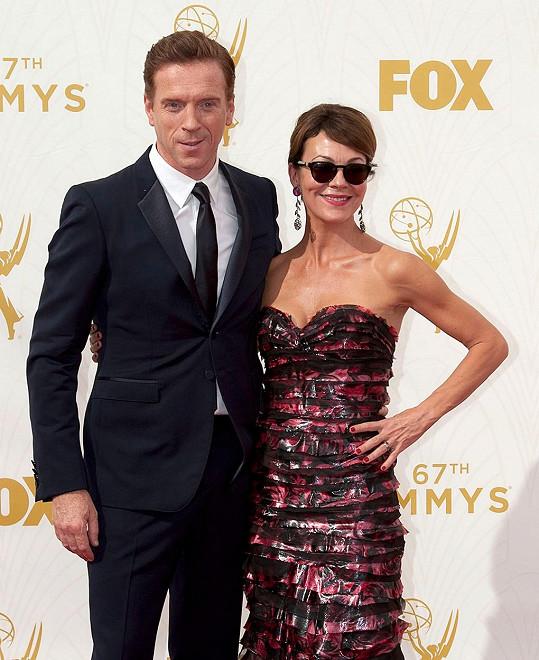 S manželem Damianem Lewisem