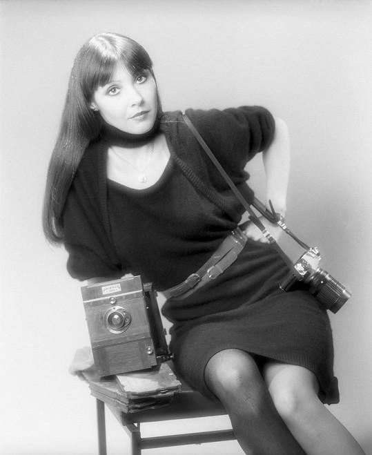 Dáda Patrasová na snímku z roku 1984. Klidně mohla působit jako modelka.