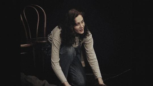 Ester během studií na DAMU