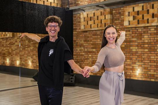 Se svou taneční partnerkou Adrianou Maškovou