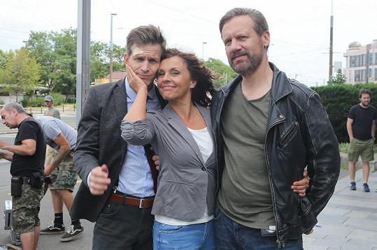 Eva Janíčková s Davidem Matáskem a svým seriálovým synem