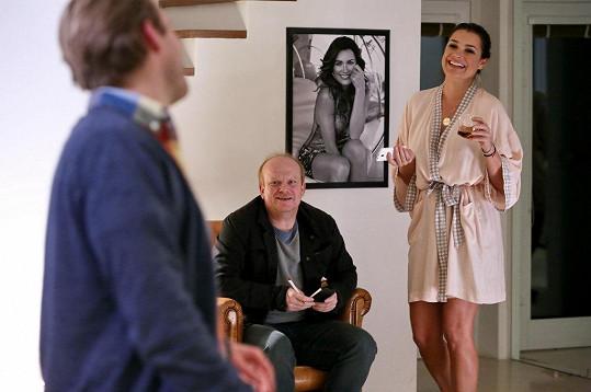 Alena Šeredová si na natáčení odskočila z Itálie, kde žije i po rozvodu s italským fotbalovým brankářem Gigim Buffonem.