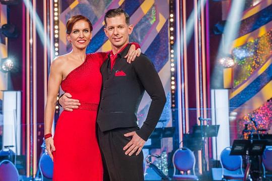S tanečníkem Janem Kohoutem trénovala již od léta.