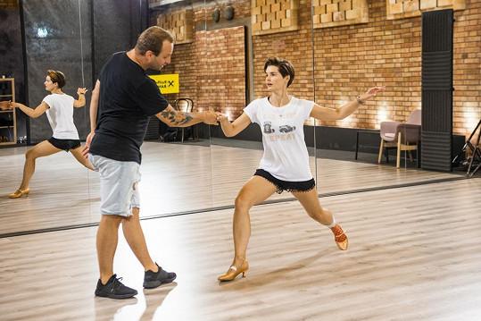Martina Viktorie Kopecká na tréninku dře.