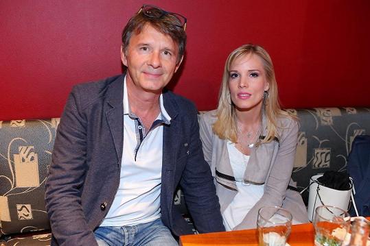 Bára s manželem Janem Šťastným