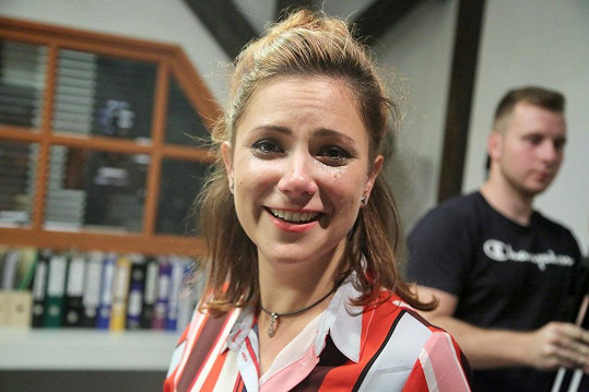 Ivana Korolová alias Danka plakala.