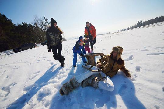 Tereza Budková skončila na sněhu.