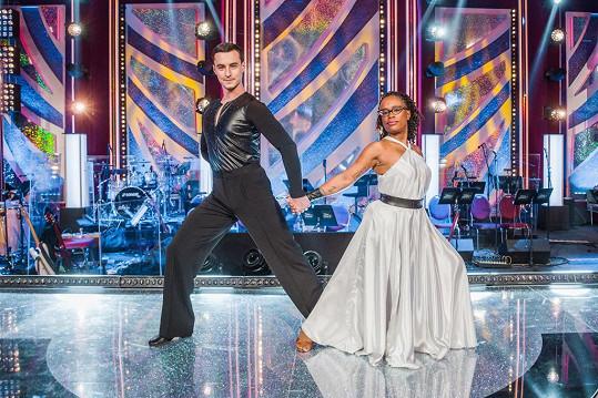 Tonya Graves tančila s Michalem Burešem.