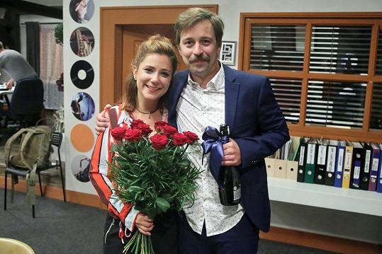 S Janem Dolanským po natáčení poslední scény