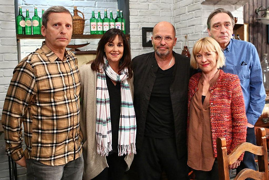 David Prachař, Tereza Brodská, Zdeněk Pohlreich, Dana Batulková a Ondřej Pavelka ve Slunečné.