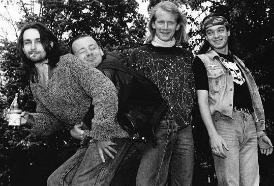 Takhle vypadali P.B.Ch., Michal Dvořák, David Koller a Robert Kodym před desítkami let.
