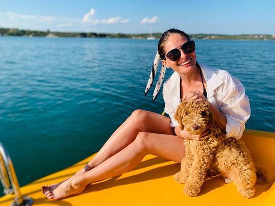 Zpěvačka si užívala na dovolené v Chorvatsku.