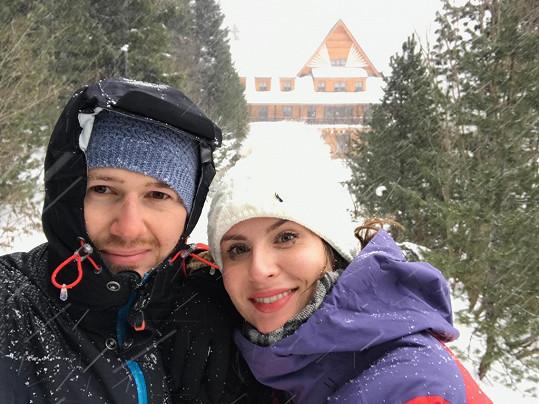 Tatranskou Lomnici navštívila se svým přítelem Lubošem.