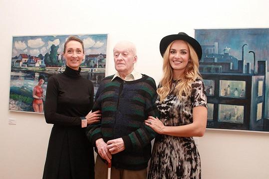 Fotili se také s galeristkou Janou Laštovka.