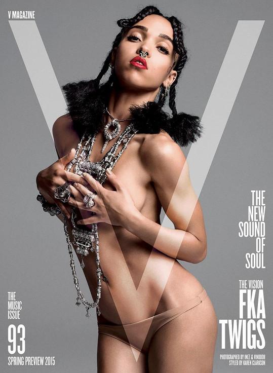 Jedna ze čtyř obálek nového čísla magazínu V