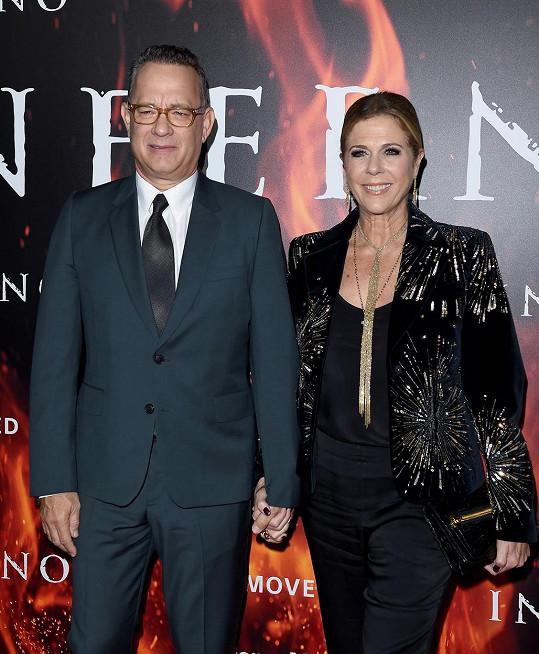 Hanksovi se nakazili jako první z Hollywoodu. U Rity probíhala nemoc hůř než u Toma.