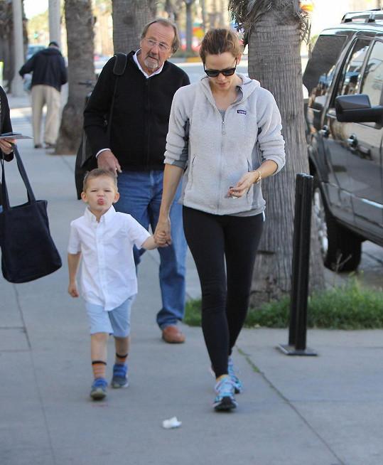 Samuel s maminkou Jennifer Garner