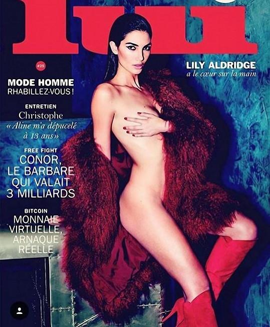 Lily Aldridge zdobí poslední obálku magazínu Lui.