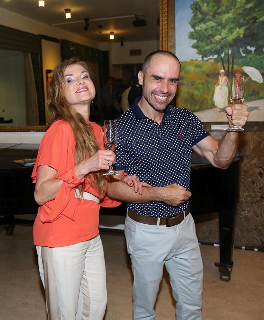 Simona Prasková a Jan Adensam na premiéře filmu Casting na lásku