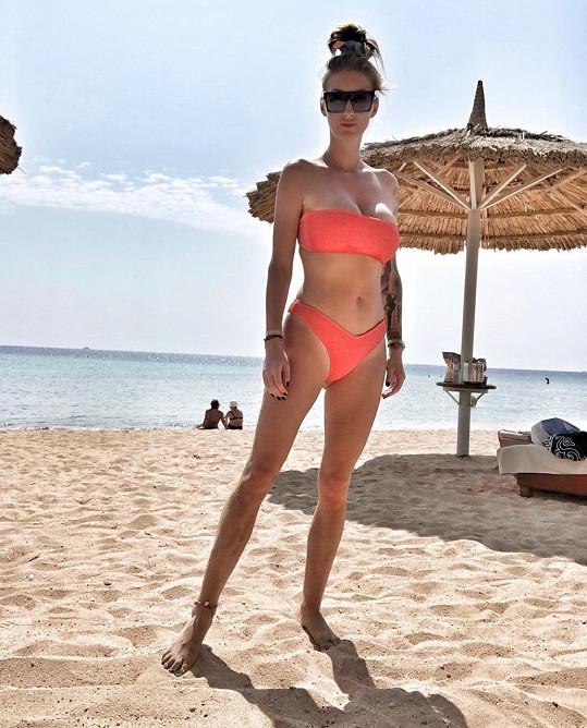 Dominika Mesarošová si užívá na dovolené v Egyptě.