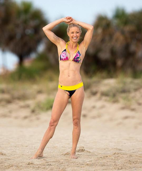 Ella Magers v úterý na pláži na Miami