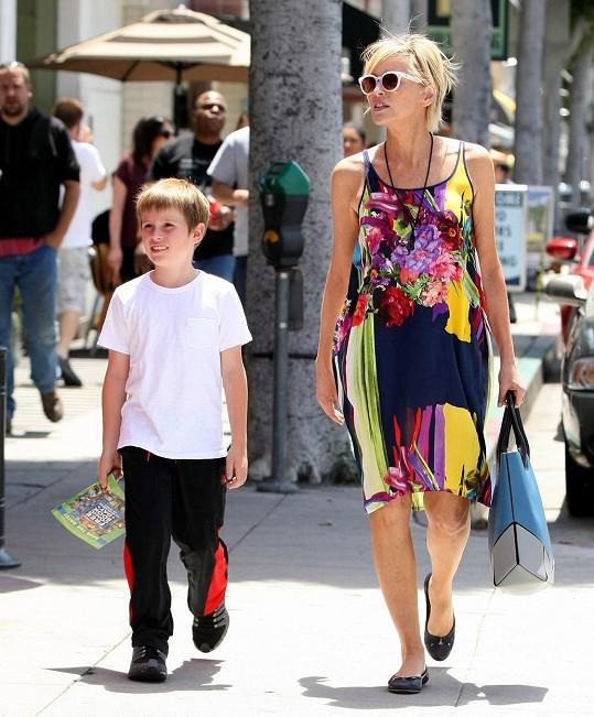 Sharon Stone vzala syna na nákupy.