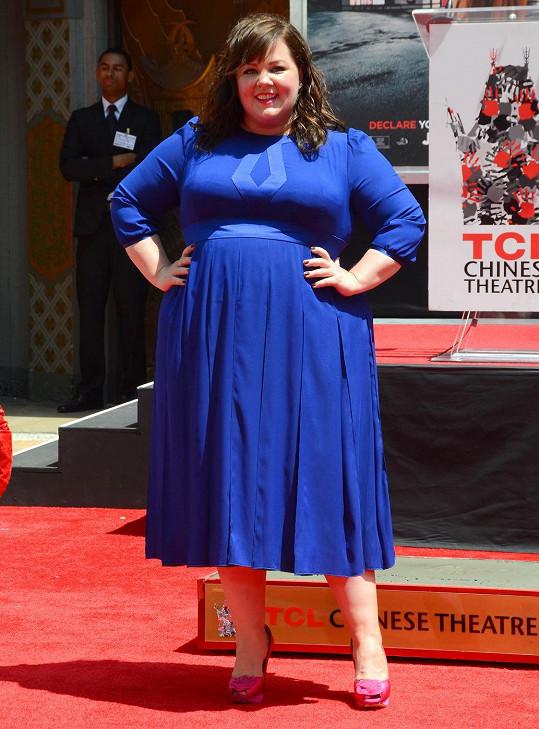 Melissa McCarthy se proslavila plnoštíhlou postavou.