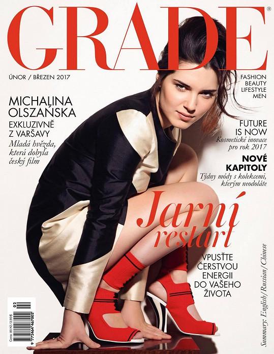 Polská herečka na obálce magazínu