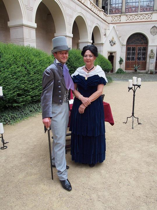 Marie Tomsová s kastelánem Tomášem Řehořem