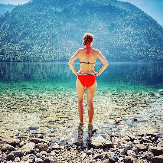 Michaela Maurerová si užívala dovolenou v Rakousku.