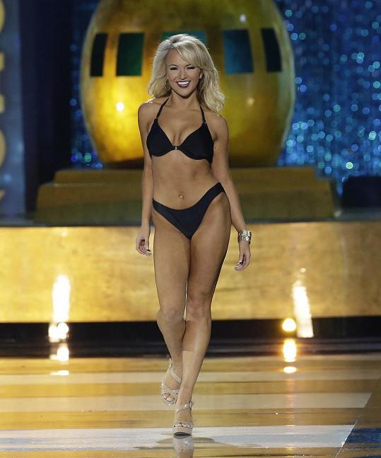 V soutěži Miss America se pochopitelně předvedla v bikinách.