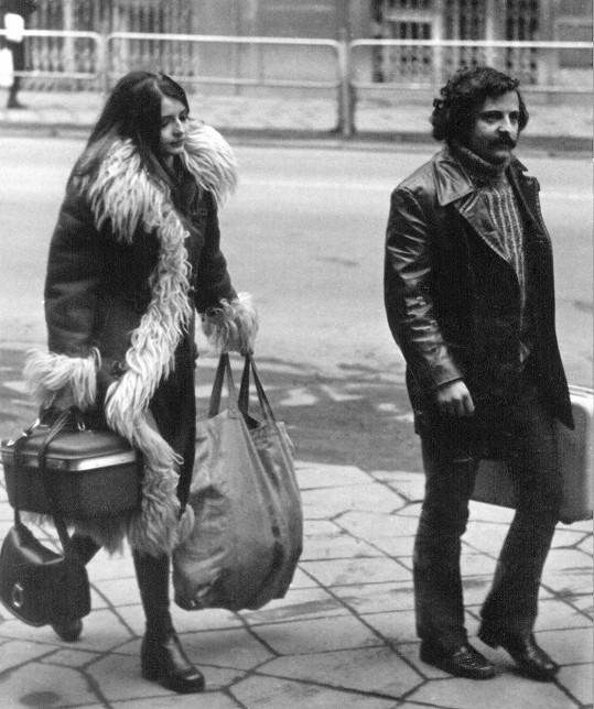 Miluše Voborníková s manželem Petrem Spáleným v roce 1972